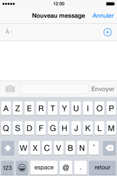 Apple iPhone 4S (iOS 8) - Contact, Appels, SMS/MMS - Envoyer un SMS - Étape 4
