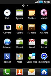 Samsung S5660 Galaxy Gio - E-mail - handmatig instellen - Stap 3