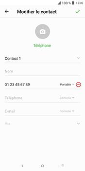 Alcatel 3L - Contact, Appels, SMS/MMS - Ajouter un contact - Étape 8