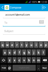 Alcatel Pixi 3 - 3.5 - Email - Sending an email message - Step 5