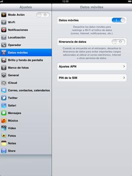 Apple iPad 2 - Internet - Activar o desactivar la conexión de datos - Paso 4