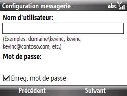 HTC S521 Snap - E-mail - Configuration manuelle - Étape 10