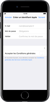 Apple iPhone XS - iOS 12 - Applications - Créer un compte - Étape 7