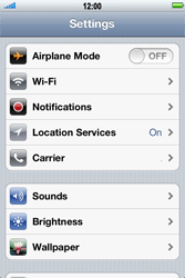 Apple iPhone 4 S - Wi-Fi - Connect to Wi-Fi network - Step 3