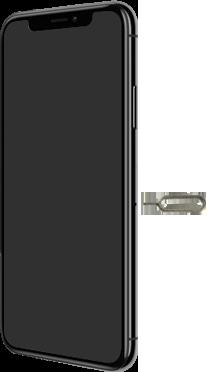 Apple iPhone XS - Toestel - simkaart plaatsen - Stap 2