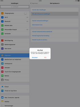 Apple iPad Pro 12.9 inch met iOS9 (Model A1652) - Instellingen aanpassen - Fabrieksinstellingen terugzetten - Stap 5