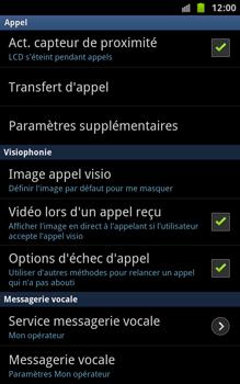 Samsung N7000 Galaxy Note - Messagerie vocale - Configuration manuelle - Étape 5