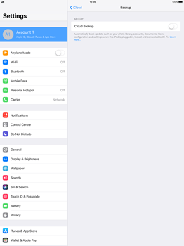 Apple Apple iPad Pro 12.9 - iOS 11 - Device maintenance - Create a backup of your data - Step 9
