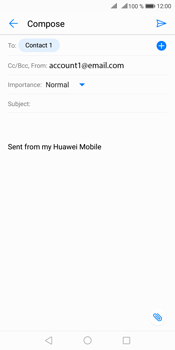 Huawei Mate 10 Pro - Email - Sending an email message - Step 7