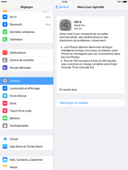 Apple iPad mini 4 - Appareil - Mise à jour logicielle - Étape 6