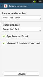 Samsung C105 Galaxy S IV Zoom LTE - E-mail - Configuration manuelle - Étape 15