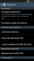 Samsung Galaxy S3 - Segurança - Como ativar o código PIN do cartão de telemóvel -  6