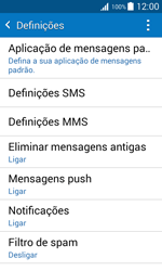 Samsung Galaxy J1 - SMS - Como configurar o centro de mensagens -  6