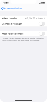 Apple iPhone X - iOS 13 - Réseau - activer 4G - Étape 5