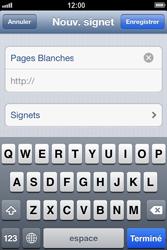 Apple iPhone 4 - iOS 6 - Internet - navigation sur Internet - Étape 11