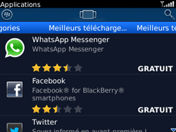 BlackBerry curve 3G - Applications - Télécharger une application - Étape 9