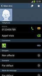 Samsung Galaxy S4 - Contact, Appels, SMS/MMS - Utiliser la visio - Étape 5