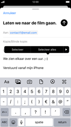 Apple iphone-7-met-ios-13-model-a1778 - E-mail - Hoe te versturen - Stap 9