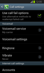 Samsung I8730 Galaxy Express - Voicemail - Manual configuration - Step 6