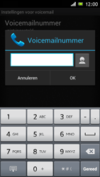 Sony ST26i Xperia J - Voicemail - handmatig instellen - Stap 7