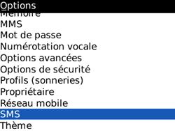 BlackBerry 8520 Curve - SMS - Configuration manuelle - Étape 4