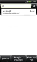 HTC A7272 Desire Z - E-mail - envoyer un e-mail - Étape 4