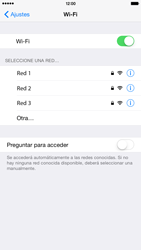 Apple iPhone 6 Plus iOS 8 - WiFi - Conectarse a una red WiFi - Paso 5