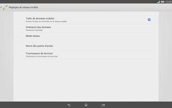Sony Xperia Tablet Z2 (SGP521) - Internet - activer ou désactiver - Étape 6