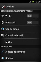 Sony Xperia E - Internet - Ver uso de datos - Paso 4