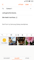 Samsung Galaxy J3 (2017) - E-mail - Sending emails - Step 12