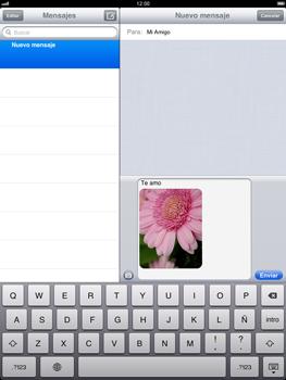 Apple iPad 2 - Mensajería - Escribir y enviar un mensaje multimedia - Paso 12