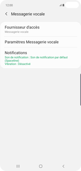 Samsung Galaxy S10 Plus - Messagerie vocale - configuration manuelle - Étape 10