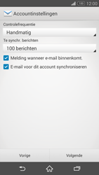 Sony D5803 Xperia Z3 Compact - E-mail - Account instellen (POP3 zonder SMTP-verificatie) - Stap 16