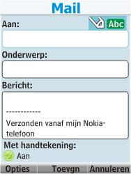 Nokia 206 Dual Sim - E-mail - Hoe te versturen - Stap 8