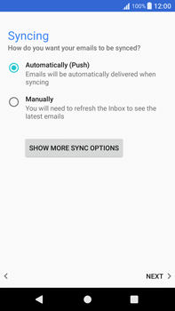 Sony Xperia XA1 Plus - Email - Manual configuration - Step 20