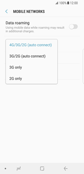 Samsung Galaxy S8 - Android Oreo - Network - Change networkmode - Step 8