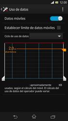 Sony Xperia Z - Internet - Ver uso de datos - Paso 8