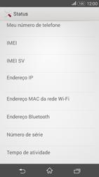 Sony Xperia E4G - Primeiros passos - Como encontrar o número de IMEI do seu aparelho - Etapa 6