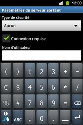 Samsung S5830i Galaxy Ace i - E-mail - Configurer l