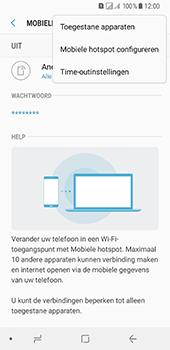 Samsung Galaxy A8 (2018) (SM-A530F) - WiFi - Mobiele hotspot instellen - Stap 8