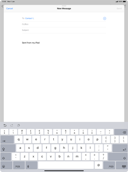 Apple iPad Pro 12.9 (2018) - Email - Sending an email message - Step 6