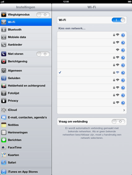 Apple iPad 4th generation - Wifi - handmatig instellen - Stap 7