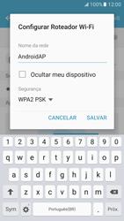 Samsung Galaxy S7 - Wi-Fi - Como usar seu aparelho como um roteador de rede wi-fi - Etapa 9