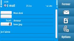 Nokia N97 - E-mail - envoyer un e-mail - Étape 13