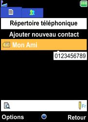 Bouygues Telecom Bc 101 - Contact, Appels, SMS/MMS - Ajouter un contact - Étape 10