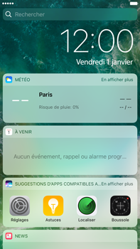 Apple Apple iPhone 6s Plus iOS 10 - iOS features - Écran de verrouillage - Étape 3