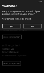 Nokia Lumia 630 - Device - Reset to factory settings - Step 8