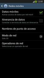 Samsung Galaxy S4 - Red - Seleccionar el tipo de red - Paso 9