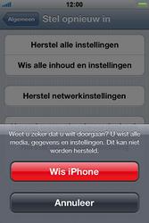 Apple iPhone 3G S met iOS 5 - Probleem oplossen - Toestel resetten - Stap 7