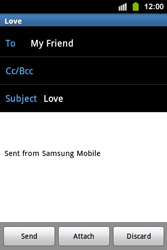 Samsung S5830i Galaxy Ace i - Email - Sending an email message - Step 9